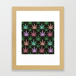 Marijuana Muted Colors Framed Art Print