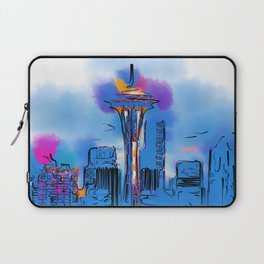 The Space Needle In Soft Abstract Laptop Sleeve