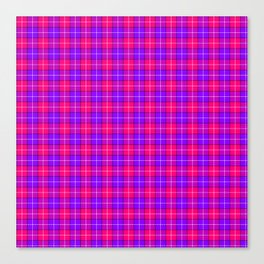Crazy Pink and Purple Plaid Canvas Print