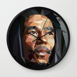 Low poly portrait Wall Clock