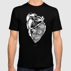 Heart Hands Mens Fitted Tee Black MEDIUM