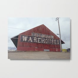 Weathered Warehouse - Williams, CA Metal Print