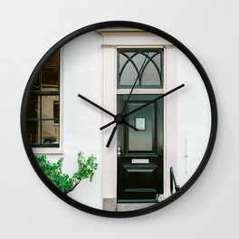 Cozy cream coloured house   Haarlem, Netherlands   Fine art travel photography Cream White house City Buildings Architecture Wall Clock