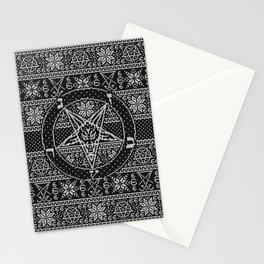 Satanic ugly sweater Stationery Cards