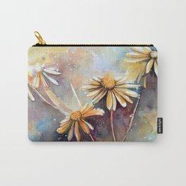 Purple Dream Garden, watercolor explorations Carry-All Pouch