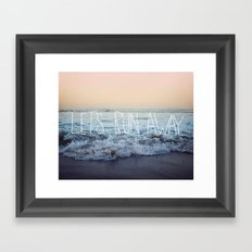 Let's Run Away x Arcadia Beach Framed Art Print