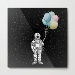 Space Trip Celebration Metal Print