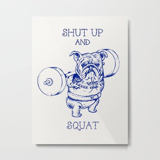 English Bulldog Squat Metal Print