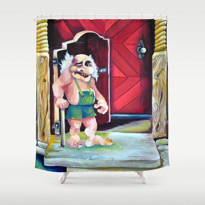 Scandinavian Troll Shower Curtain By Nisuris