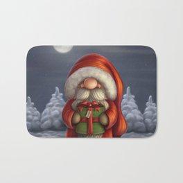 Little Santa with a gift Bath Mat
