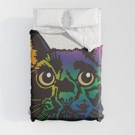 Rainbow Cat Duvet Cover