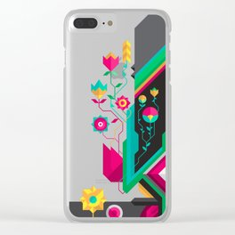garden swordfish Clear iPhone Case