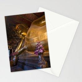 Reclining Buddha, Wat Pho, Bangkok, Thailand Stationery Cards
