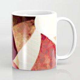 Baroque Burgundy Copper Ivory Maximum Abstract Art Coffee Mug