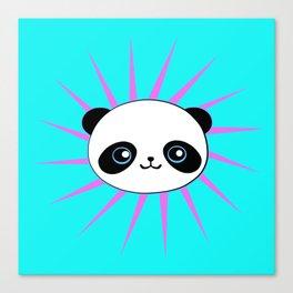 Wild Rockstar Panda Canvas Print