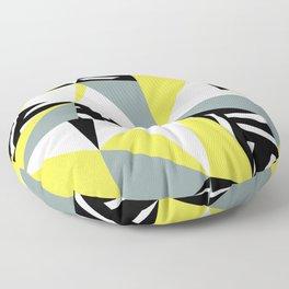 Modern Geometric 45 Yellow Floor Pillow
