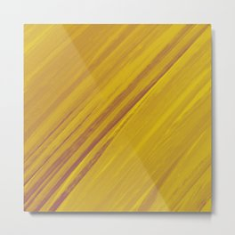 Acrylic brush strokes background - golden ochre Metal Print