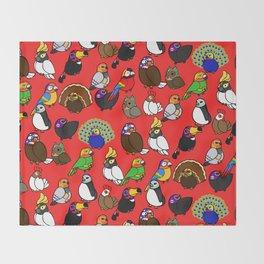 Lucha Birds Throw Blanket