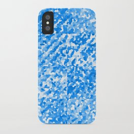 Blue Delight (Squares) iPhone Case