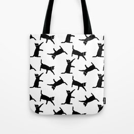 Cats on White Tote Bag