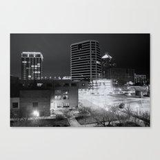 Downtown Greensboro At Night Canvas Print