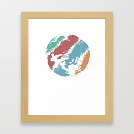 This retro karate design is the perfect gift for martial artists who loves Taekwondo or Kung Fu Framed Art Print