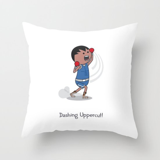 Dashing Uppercut Throw Pillow