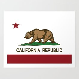 California Republic Flag Art Print