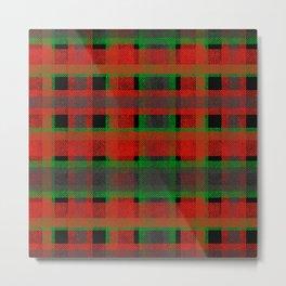Red, green tartan plaid. Metal Print