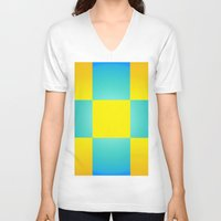 square V-neck T-shirts featuring Square by Cpayne