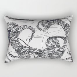 Calligraphy Dance Rectangular Pillow
