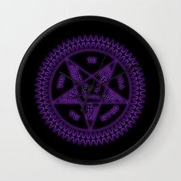 Sebastian Michaelis Sigil Dark (black bg) Wall Clock