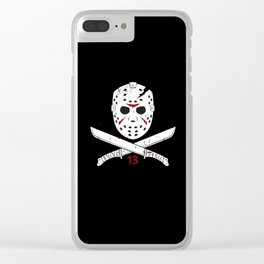 Jason mask Clear iPhone Case