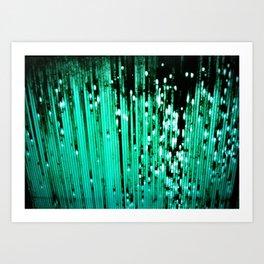 Green Bleep Art Print