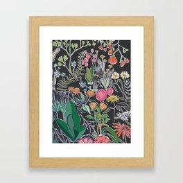 Summer Garden at Midnight Framed Art Print