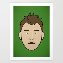 Faces of Breaking Bad: Jesse Pinkman (Early) Art Print