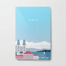 Zürich Metal Print