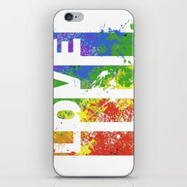 LOVE/COLOR iPhone Skin