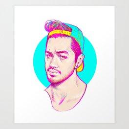 Neon hat Art Print