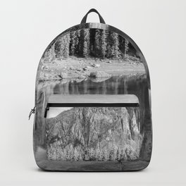 Reflection River (Black and White) Backpack