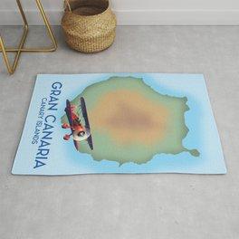 Gran Canaria canary island, travel poster Rug