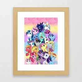Pastel Magic Framed Art Print