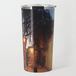 Athens alleyway Travel Mug