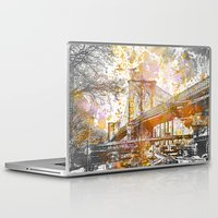 brooklyn bridge Laptop & iPad Skins featuring Brooklyn Bridge by LebensART