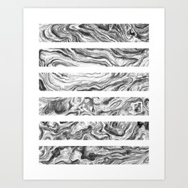 Point Lobos Stone- Stripes Art Print
