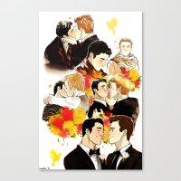 klaine Canvas Prints featuring klaine throughout the seasons by suitfer