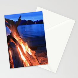 Beach Fire Burning, Kepler Track Stationery Cards
