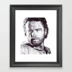 Rick Grimes (The Walking Dead) Pen Drawing  Framed Art Print