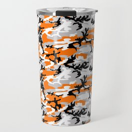 Orange Camouflage Pattern Travel Mug