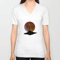 jack skellington V-neck T-shirts featuring NIGHTMARE JACK SKELLINGTON by alexa